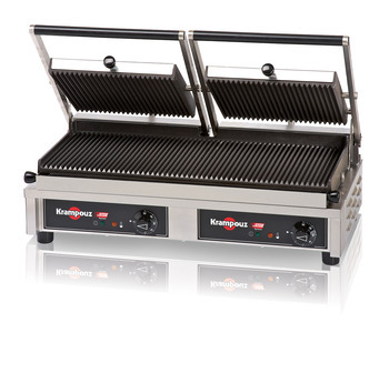GECID5AO - Contact grill Large: ribbed/ribbed