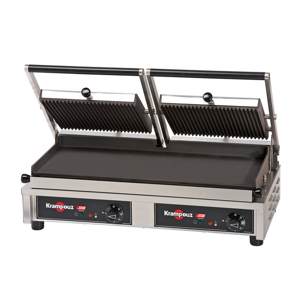 GECID5BO - Contact grill Large: ribbed/flat