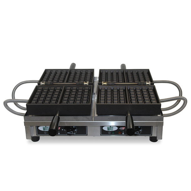 WECABB - Double waffle iron - 4x6 Brussels