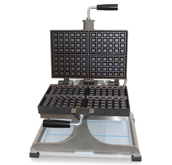 WECABE - Big turnable waffle iron - 4x4x6 Brussels