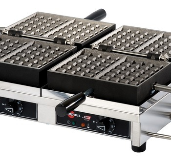 WECCBBAT - USA/CA Waffle iron KRAMPOUZ 4x6 Brussels Double model