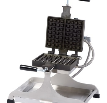 WECCBDAS - Waffle Iron KRAMPOUZ 4x6 Brussels Small Turnable