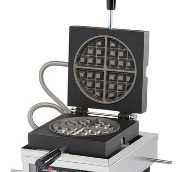 WECCCCAS - Waffle Iron KRAMPOUZ 4x8 Brussels Round Reheating model