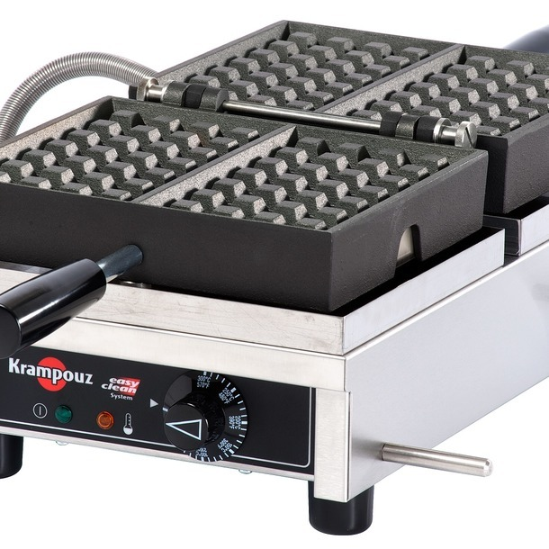WECDBAAS - USA/CA Waffle iron KRAMPOUZ 4x6 Brussels Single model