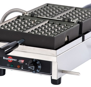 WECDHAAS - Waffle Iron KRAMPOUZ 4x7 Liège Single model